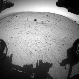 Nasa's Mars rover Curiosity acquired this image using its Front Hazard Avoidance Camera (Front Hazcam) on Sol 376, at drive 420, site number 14