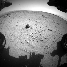Nasa's Mars rover Curiosity acquired this image using its Front Hazard Avoidance Camera (Front Hazcam) on Sol 376, at drive 438, site number 14