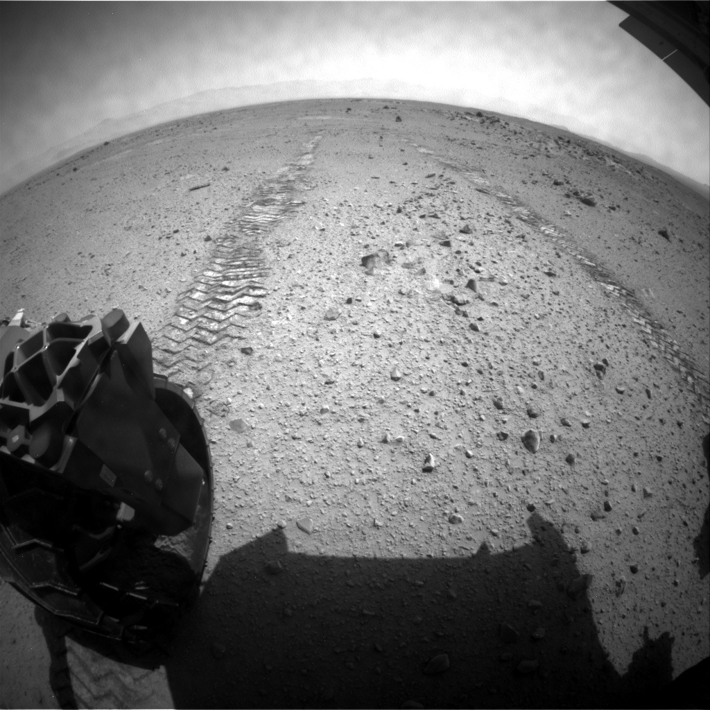 NASA's Mars rover Curiosity acquired this image using its Rear Hazard Avoidance Cameras (Rear Hazcams) on Sol 376