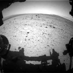 Nasa's Mars rover Curiosity acquired this image using its Front Hazard Avoidance Camera (Front Hazcam) on Sol 377, at drive 670, site number 14