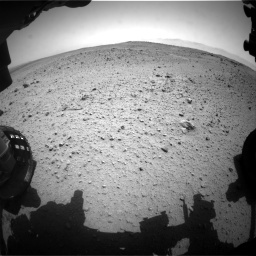 NASA's Mars rover Curiosity acquired this image using its Front Hazard Avoidance Cameras (Front Hazcams) on Sol 377
