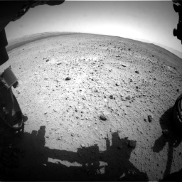 Nasa's Mars rover Curiosity acquired this image using its Front Hazard Avoidance Camera (Front Hazcam) on Sol 377, at drive 766, site number 14