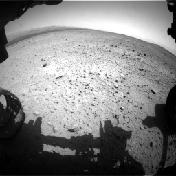 Nasa's Mars rover Curiosity acquired this image using its Front Hazard Avoidance Camera (Front Hazcam) on Sol 377, at drive 778, site number 14