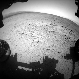 Nasa's Mars rover Curiosity acquired this image using its Front Hazard Avoidance Camera (Front Hazcam) on Sol 377, at drive 796, site number 14