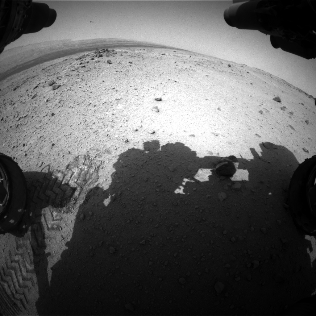 Nasa's Mars rover Curiosity acquired this image using its Front Hazard Avoidance Camera (Front Hazcam) on Sol 377, at drive 454, site number 14