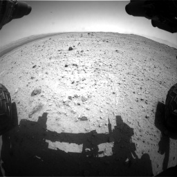 Nasa's Mars rover Curiosity acquired this image using its Front Hazard Avoidance Camera (Front Hazcam) on Sol 377, at drive 664, site number 14