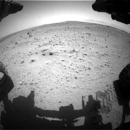 Nasa's Mars rover Curiosity acquired this image using its Front Hazard Avoidance Camera (Front Hazcam) on Sol 377, at drive 676, site number 14