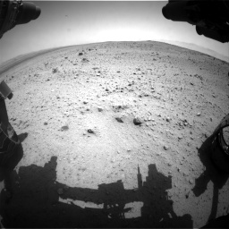 Nasa's Mars rover Curiosity acquired this image using its Front Hazard Avoidance Camera (Front Hazcam) on Sol 377, at drive 682, site number 14