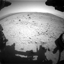 Nasa's Mars rover Curiosity acquired this image using its Front Hazard Avoidance Camera (Front Hazcam) on Sol 377, at drive 688, site number 14
