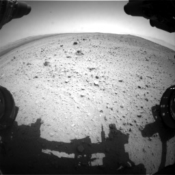 Nasa's Mars rover Curiosity acquired this image using its Front Hazard Avoidance Camera (Front Hazcam) on Sol 377, at drive 694, site number 14