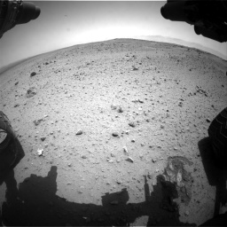Nasa's Mars rover Curiosity acquired this image using its Front Hazard Avoidance Camera (Front Hazcam) on Sol 377, at drive 700, site number 14