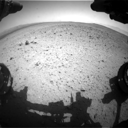 Nasa's Mars rover Curiosity acquired this image using its Front Hazard Avoidance Camera (Front Hazcam) on Sol 377, at drive 736, site number 14