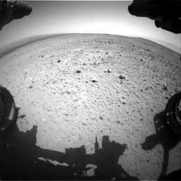 Nasa's Mars rover Curiosity acquired this image using its Front Hazard Avoidance Camera (Front Hazcam) on Sol 377, at drive 754, site number 14