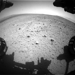 Nasa's Mars rover Curiosity acquired this image using its Front Hazard Avoidance Camera (Front Hazcam) on Sol 377, at drive 760, site number 14