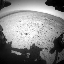 Nasa's Mars rover Curiosity acquired this image using its Front Hazard Avoidance Camera (Front Hazcam) on Sol 377, at drive 772, site number 14