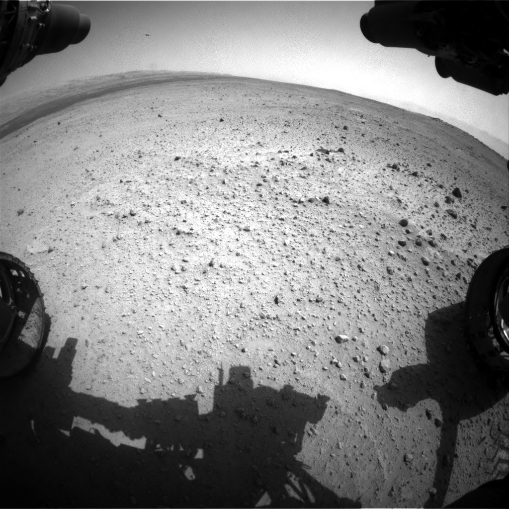 Nasa's Mars rover Curiosity acquired this image using its Front Hazard Avoidance Camera (Front Hazcam) on Sol 377, at drive 800, site number 14