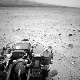 Nasa's Mars rover Curiosity acquired this image using its Left Navigation Camera on Sol 377, at drive 676, site number 14