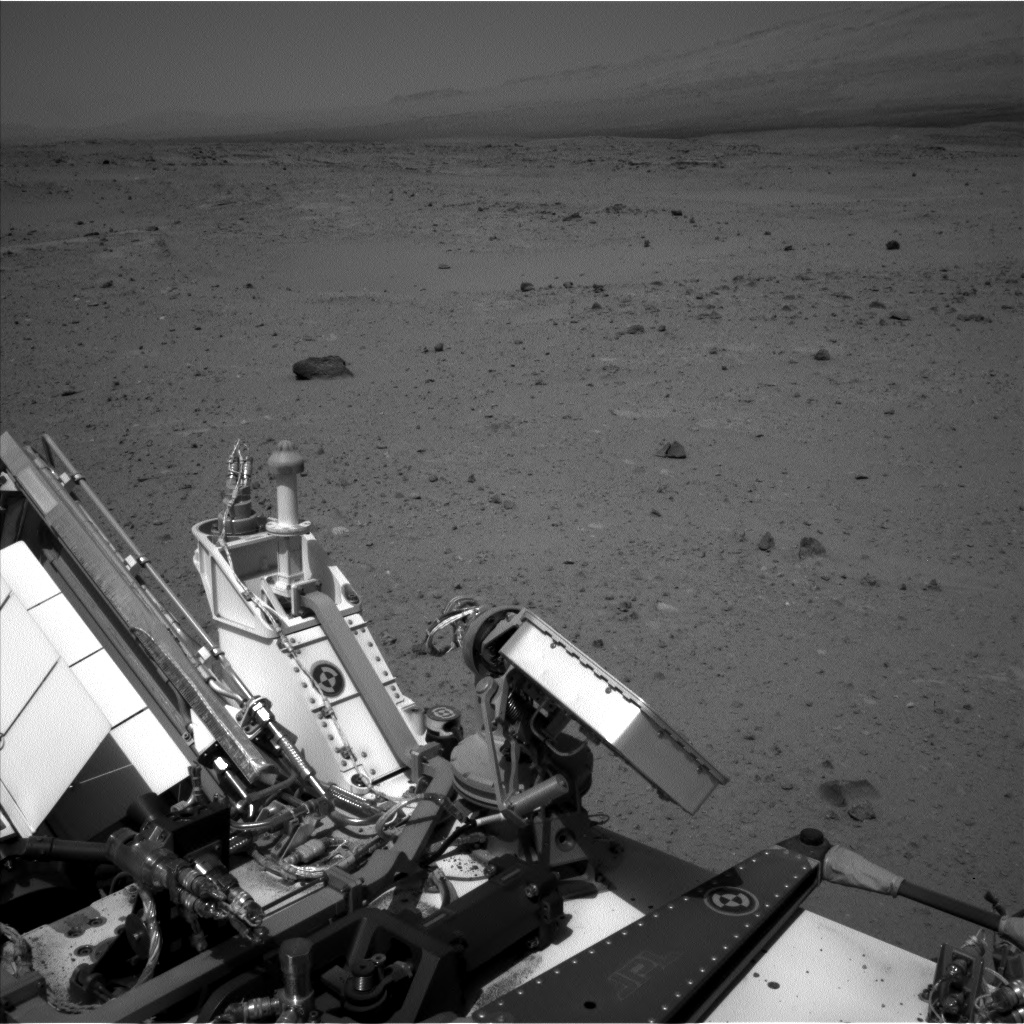 Nasa's Mars rover Curiosity acquired this image using its Left Navigation Camera on Sol 377, at drive 800, site number 14