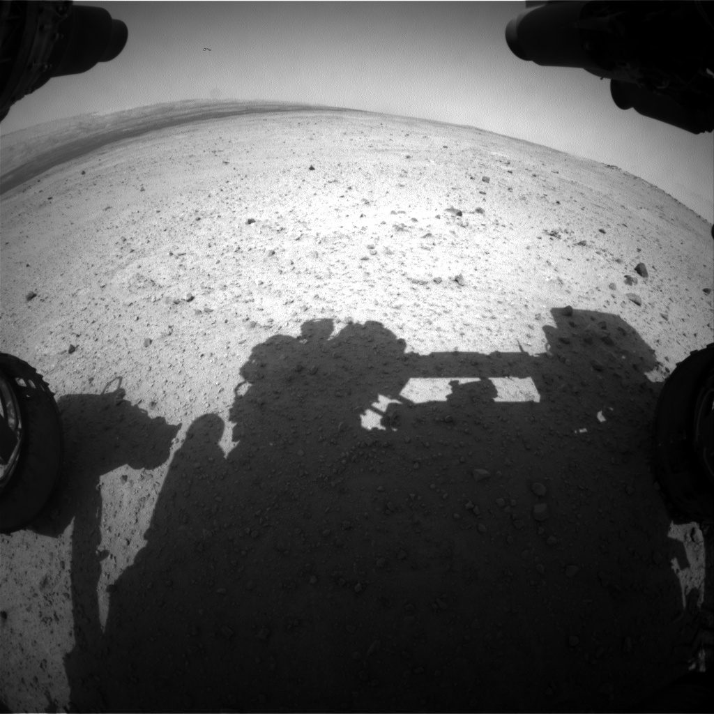 Nasa's Mars rover Curiosity acquired this image using its Front Hazard Avoidance Camera (Front Hazcam) on Sol 378, at drive 800, site number 14