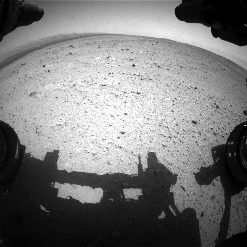 Nasa's Mars rover Curiosity acquired this image using its Front Hazard Avoidance Camera (Front Hazcam) on Sol 378, at drive 1132, site number 14