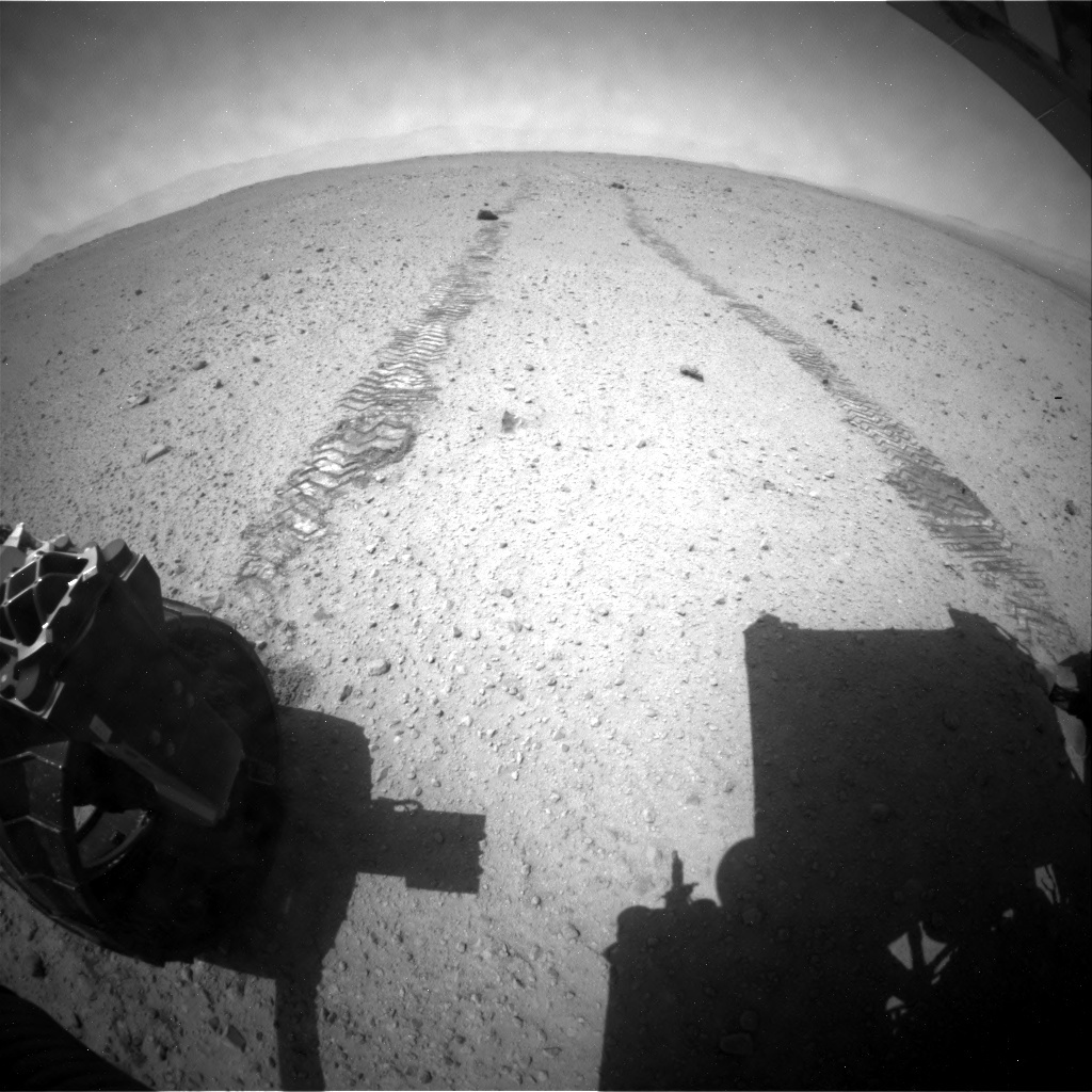 NASA's Mars rover Curiosity acquired this image using its Rear Hazard Avoidance Cameras (Rear Hazcams) on Sol 378