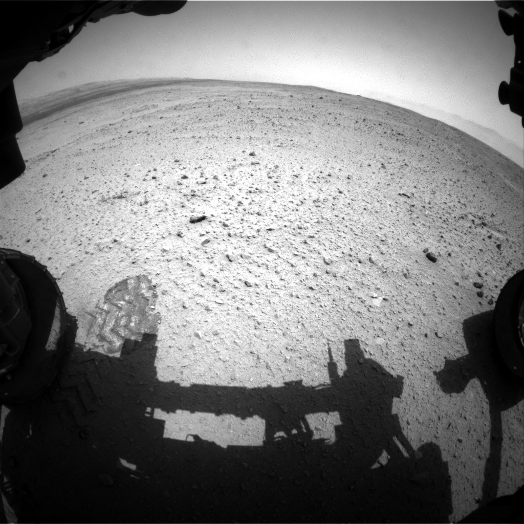 NASA's Mars rover Curiosity acquired this image using its Front Hazard Avoidance Cameras (Front Hazcams) on Sol 379