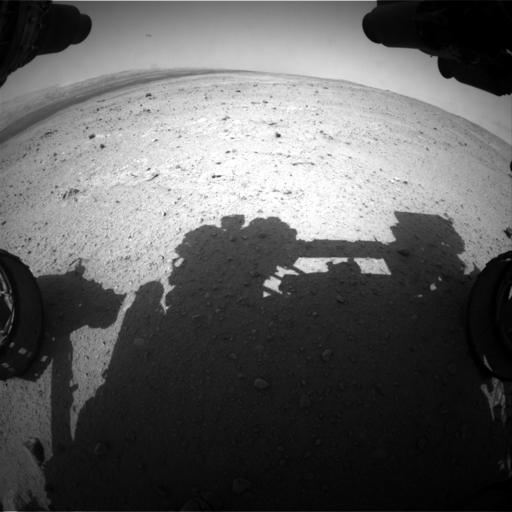 Nasa's Mars rover Curiosity acquired this image using its Front Hazard Avoidance Camera (Front Hazcam) on Sol 379, at drive 1132, site number 14