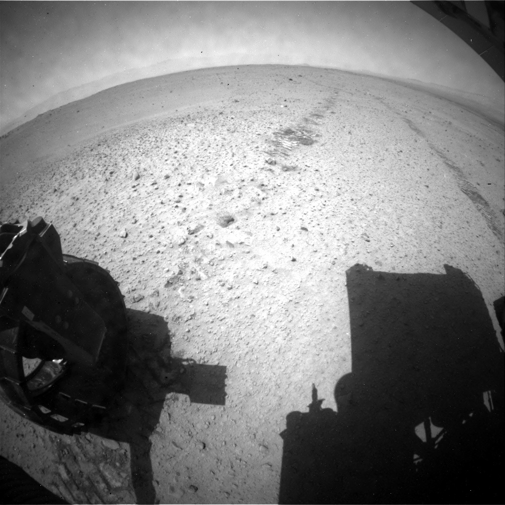 NASA's Mars rover Curiosity acquired this image using its Rear Hazard Avoidance Cameras (Rear Hazcams) on Sol 379