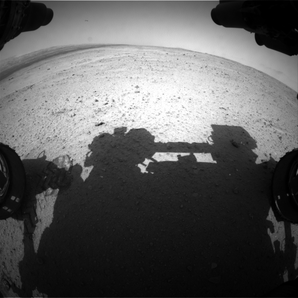 Nasa's Mars rover Curiosity acquired this image using its Front Hazard Avoidance Camera (Front Hazcam) on Sol 380, at drive 1262, site number 14