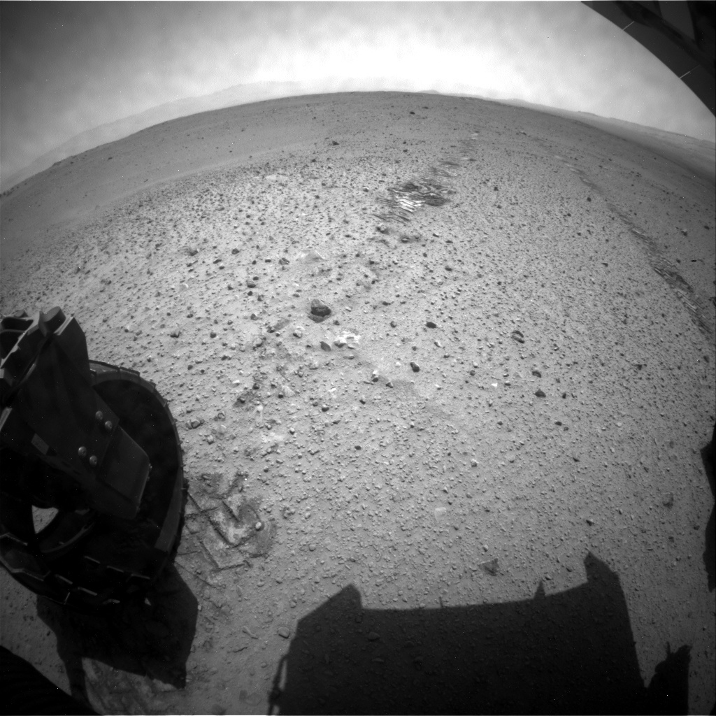 NASA's Mars rover Curiosity acquired this image using its Rear Hazard Avoidance Cameras (Rear Hazcams) on Sol 380