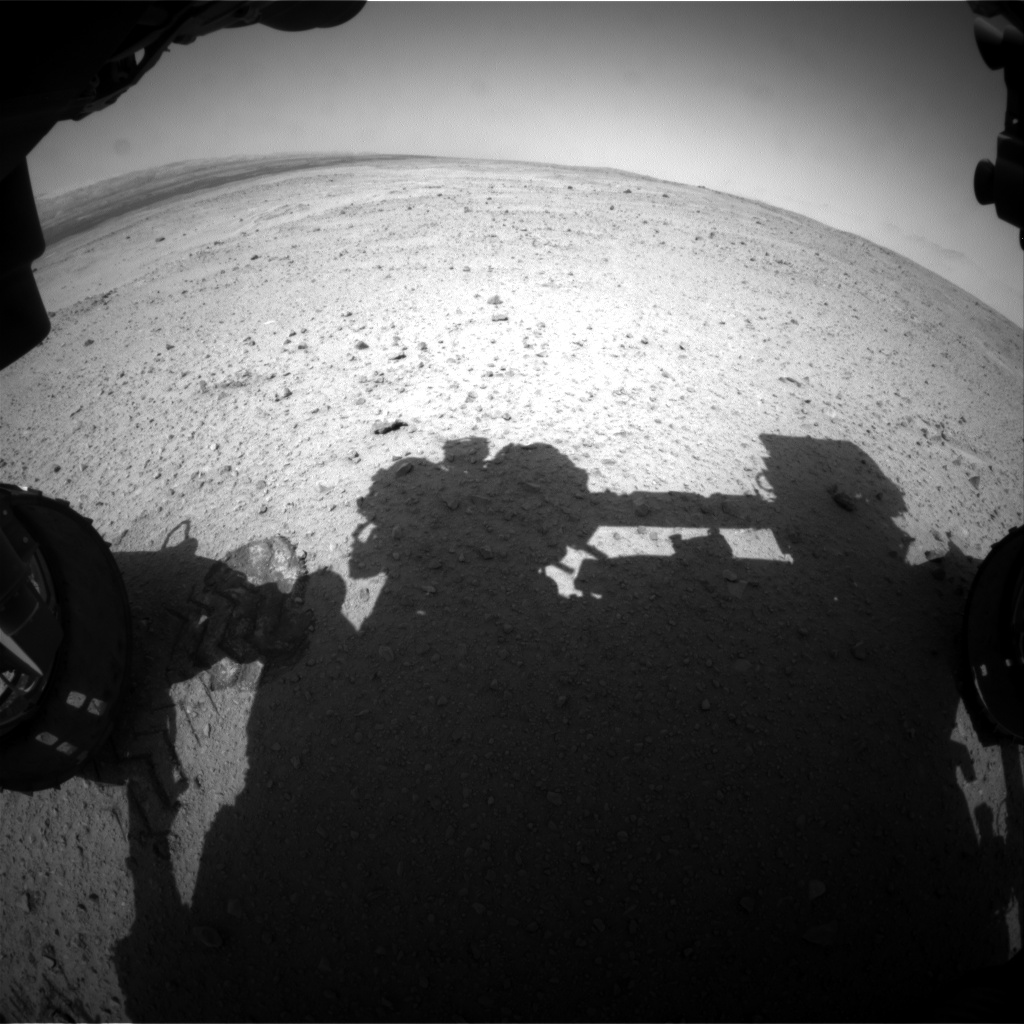 Nasa's Mars rover Curiosity acquired this image using its Front Hazard Avoidance Camera (Front Hazcam) on Sol 381, at drive 1262, site number 14