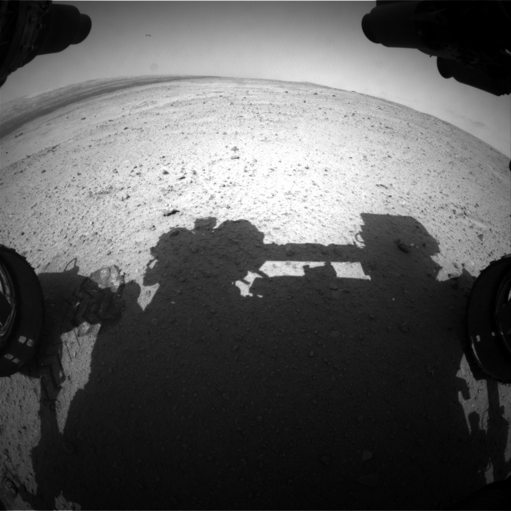 NASA's Mars rover Curiosity acquired this image using its Front Hazard Avoidance Cameras (Front Hazcams) on Sol 381