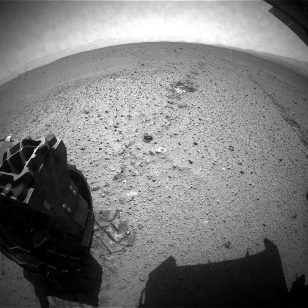 NASA's Mars rover Curiosity acquired this image using its Rear Hazard Avoidance Cameras (Rear Hazcams) on Sol 381