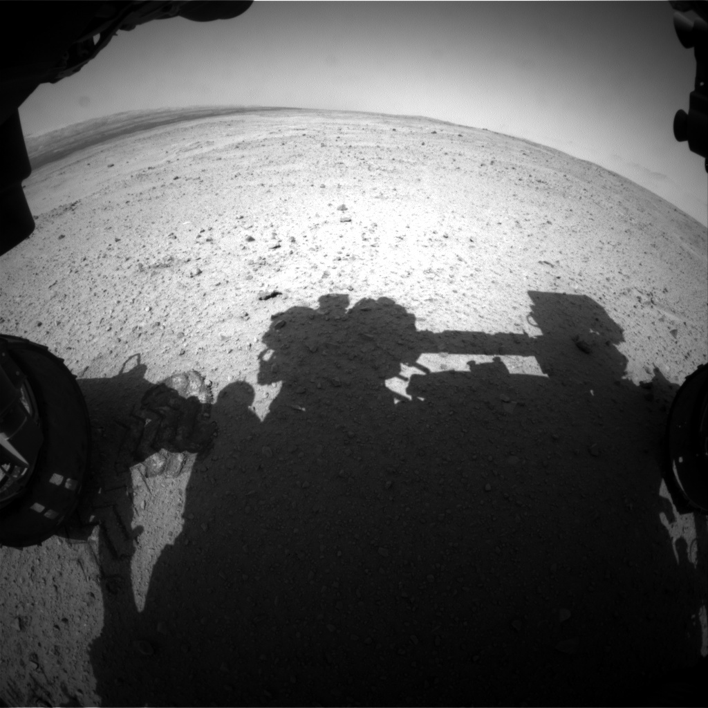NASA's Mars rover Curiosity acquired this image using its Front Hazard Avoidance Cameras (Front Hazcams) on Sol 382