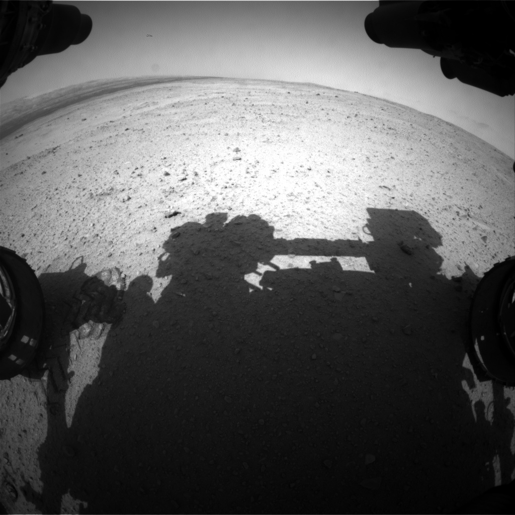 Nasa's Mars rover Curiosity acquired this image using its Front Hazard Avoidance Camera (Front Hazcam) on Sol 382, at drive 1262, site number 14