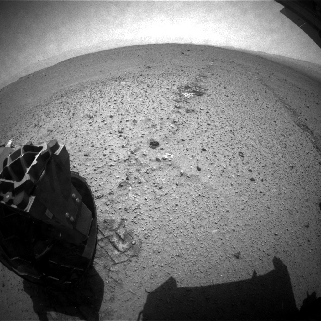 NASA's Mars rover Curiosity acquired this image using its Rear Hazard Avoidance Cameras (Rear Hazcams) on Sol 382