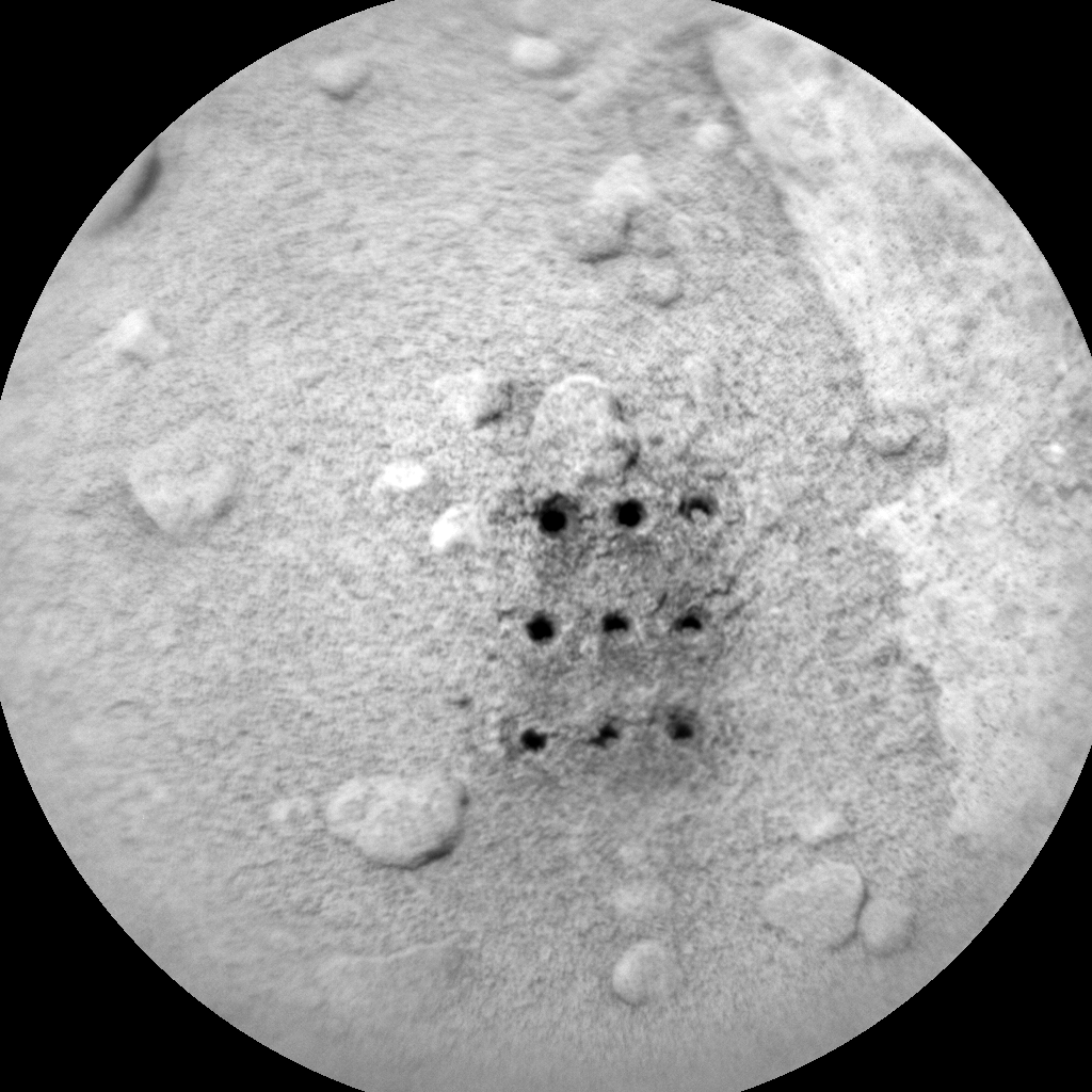 Nasa's Mars rover Curiosity acquired this image using its Chemistry & Camera (ChemCam) on Sol 382, at drive 1262, site number 14