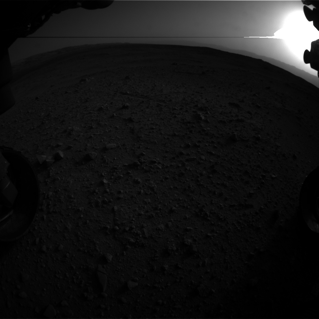 NASA's Mars rover Curiosity acquired this image using its Front Hazard Avoidance Cameras (Front Hazcams) on Sol 383