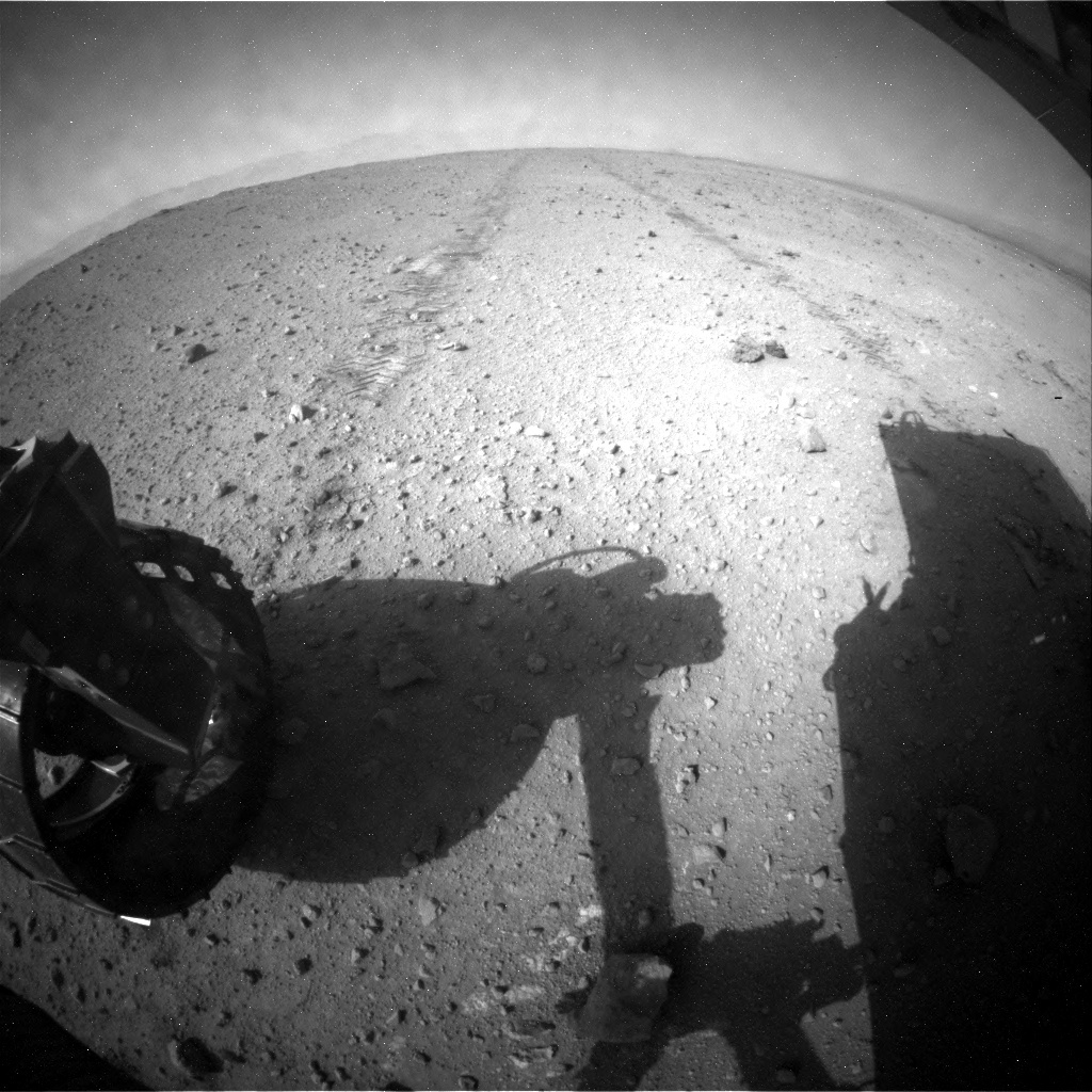 NASA's Mars rover Curiosity acquired this image using its Rear Hazard Avoidance Cameras (Rear Hazcams) on Sol 383