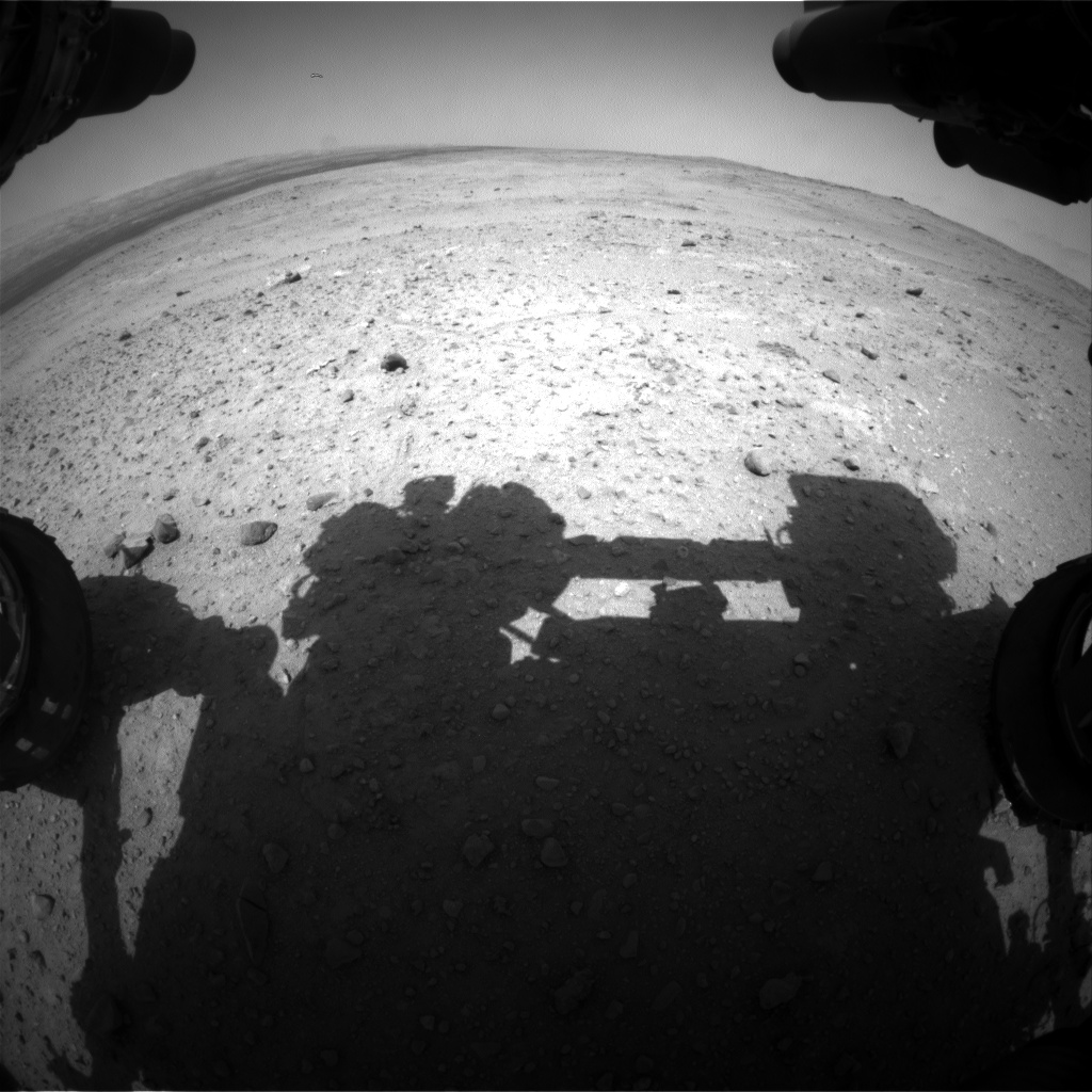 Nasa's Mars rover Curiosity acquired this image using its Front Hazard Avoidance Camera (Front Hazcam) on Sol 384, at drive 0, site number 15