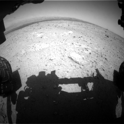 Nasa's Mars rover Curiosity acquired this image using its Front Hazard Avoidance Camera (Front Hazcam) on Sol 385, at drive 462, site number 15