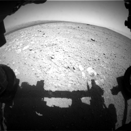 Nasa's Mars rover Curiosity acquired this image using its Front Hazard Avoidance Camera (Front Hazcam) on Sol 385, at drive 576, site number 15