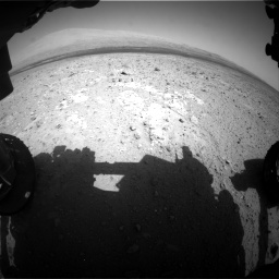Nasa's Mars rover Curiosity acquired this image using its Front Hazard Avoidance Camera (Front Hazcam) on Sol 385, at drive 720, site number 15
