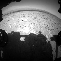 Nasa's Mars rover Curiosity acquired this image using its Front Hazard Avoidance Camera (Front Hazcam) on Sol 385, at drive 738, site number 15