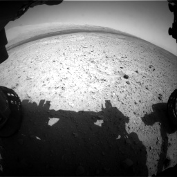 Nasa's Mars rover Curiosity acquired this image using its Front Hazard Avoidance Camera (Front Hazcam) on Sol 385, at drive 774, site number 15