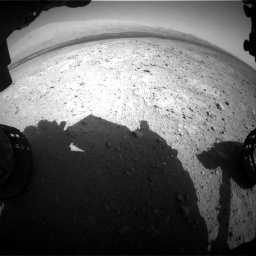 NASA's Mars rover Curiosity acquired this image using its Front Hazard Avoidance Cameras (Front Hazcams) on Sol 385
