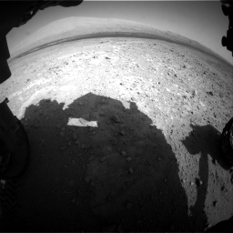 Nasa's Mars rover Curiosity acquired this image using its Front Hazard Avoidance Camera (Front Hazcam) on Sol 385, at drive 936, site number 15