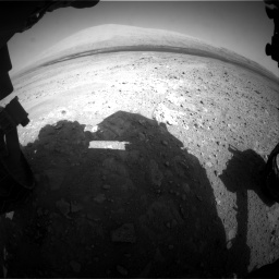 Nasa's Mars rover Curiosity acquired this image using its Front Hazard Avoidance Camera (Front Hazcam) on Sol 385, at drive 972, site number 15