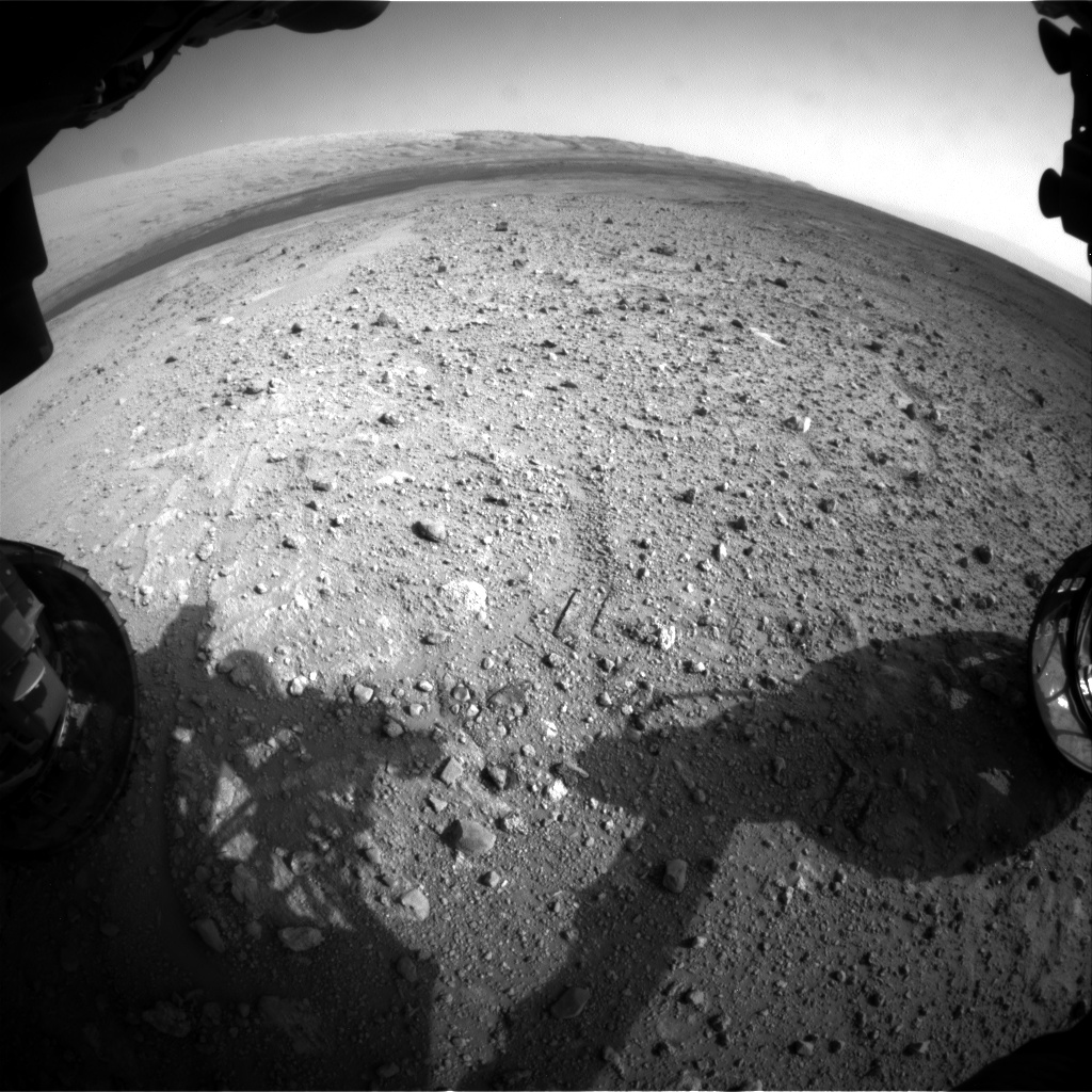 Nasa's Mars rover Curiosity acquired this image using its Front Hazard Avoidance Camera (Front Hazcam) on Sol 385, at drive 998, site number 15