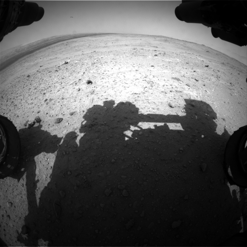 Nasa's Mars rover Curiosity acquired this image using its Front Hazard Avoidance Camera (Front Hazcam) on Sol 385, at drive 0, site number 15